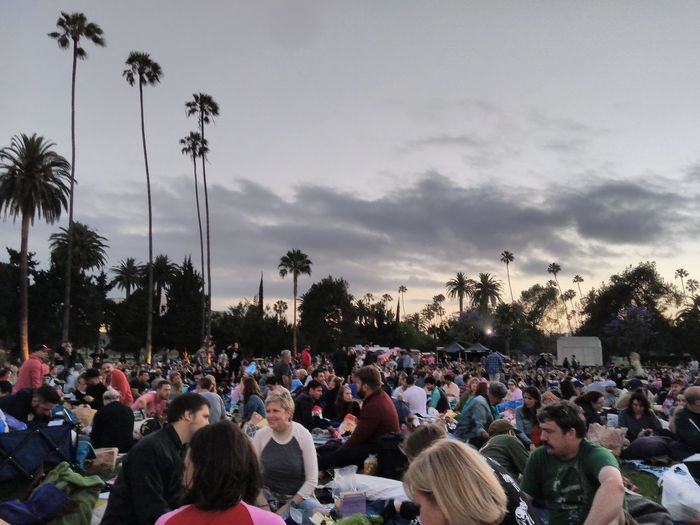 Back at Cinespia to see Indy! Cinespia Movıe Crowd Tree Fan - Enthusiast Audience Men Togetherness Live Event Performance Entertainment Tent