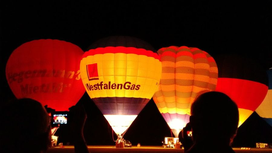 Color Palette Montgolfiade August 2016in Rheine/Germany Ballon Glow Hot Air Balloon Balloons Nightphotography Coulors Color Photography No Filter, No Edit, Just Photography
