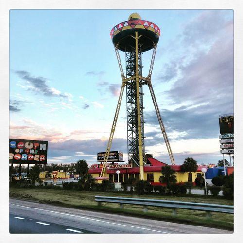 South Of The Border, South Carolina. Pedro Sky Architecture Cloud - Sky Built Structure Transfer Print Auto Post Production Filter Nature Amusement Park Ride Amusement Park Tower No People Outdoors