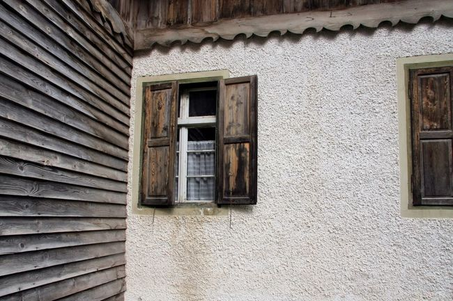 Building Exterior Architecture Built Structure Window House Residential Building Day Outdoors No People Weathered Bad Condition EyeEmNewHere Rustic Wooden Wall Building Old Glass Rough Hut Hiking Hütte Adventure Detail
