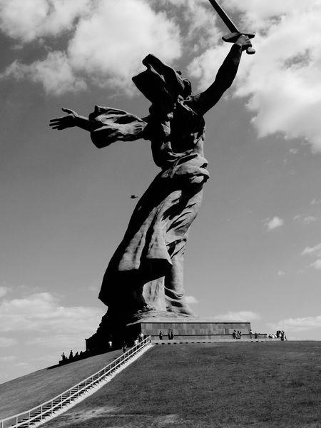 Волгоград родина_мать черно-белое Black And White Volgograd Russia