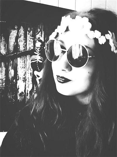 Black & White Selfshot Selfie Goth