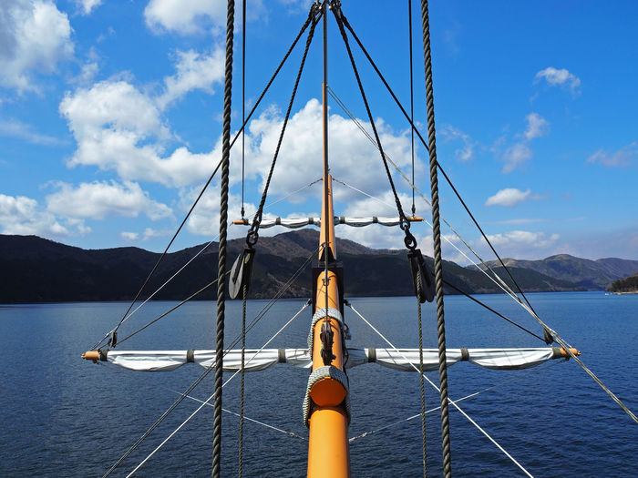Boat Boat Ride Boats Clouds And Sky Japan Lake Rope Ropes Sailboat Sailing Sailing Ship Sky Sky And Clouds Feel The Journey On The Way