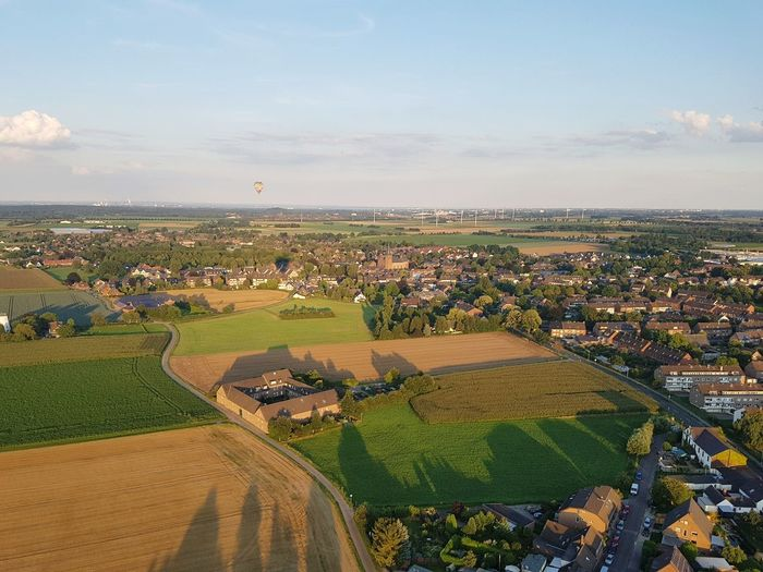 Agriculture Crop  Aerial View Event Field Landscape Sky Outdoors Rural Scene Urban Skyline Nature No People Day Stadium Food Cityscape Hot Air Balloon Field Cereal Plant Growth Balloon Ferien2017 Heißluftbalon :) Heißluftballon Ferien