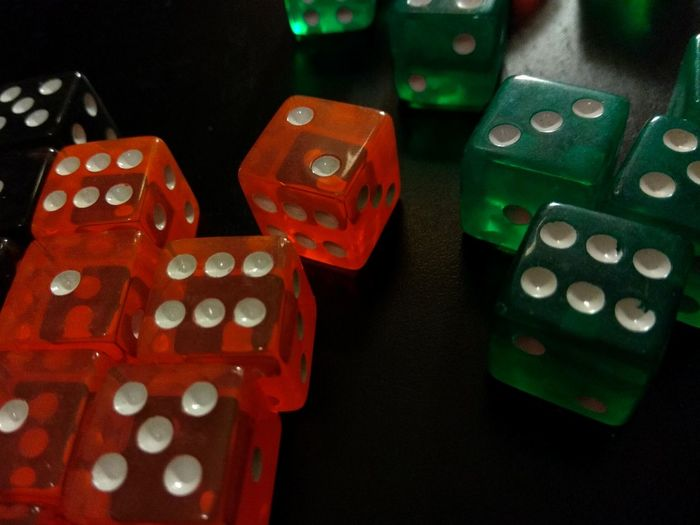dice Gambling Business Finance And Industry Close-up Dice Board Game Luck Number 6  Casino Various