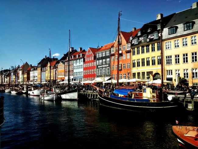 Harbor, People and Boats in Copenhagen Kopenhagen