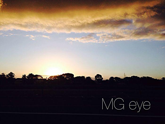 Melbourne sunset Enjoying Life Sunset Silhouettes Captured Moment Exploring Melbourne On The Road Life