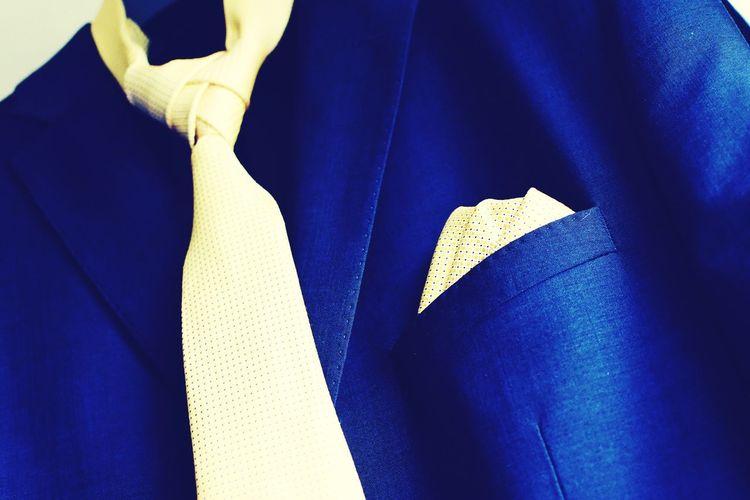 Suit Blue Suit Suit & Tie Yellow Color Tie Eldredge Knot Prom Prom2017