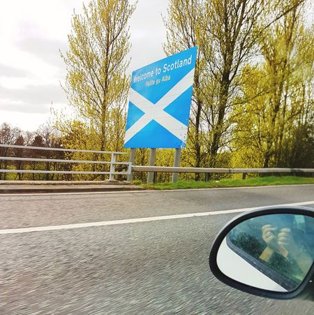 Transportation Road Sign Outdoors Car Close-up Tourism The Best From Holiday POV Eyem Best Shots Scotland No People Transportation