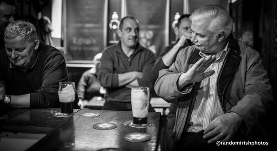 Better Together EE_Daily: Black And White Rural Ireland Eye4black&white  Discover Ireland the lads having a pint in Egan's in Mount Temple last night.