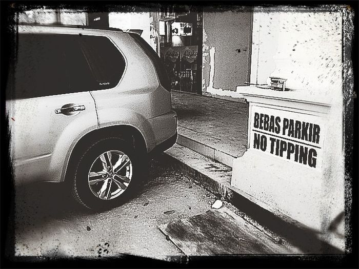 ... parking here ..