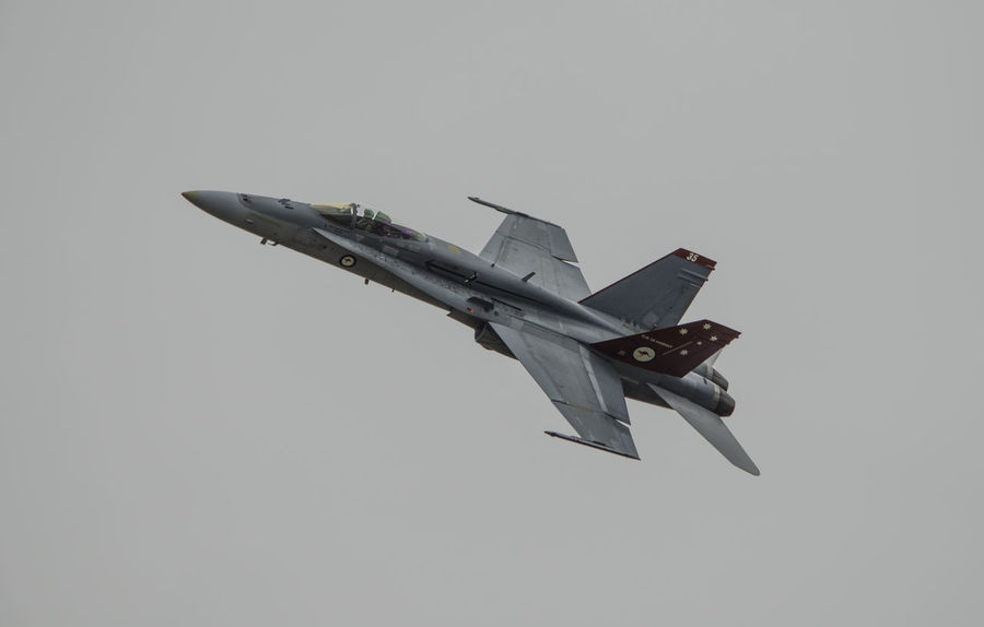 Jet Fighter F/A-18C Hornet RAAF Royal Australian Air Force Aerospace Industry Afterburner Air Vehicle Airplane Aviation Aviationphotography Clear Sky Day Fighterjet Fighterjets Flying Mid-air Military Military Airplane No People Outdoors Sky Transportation