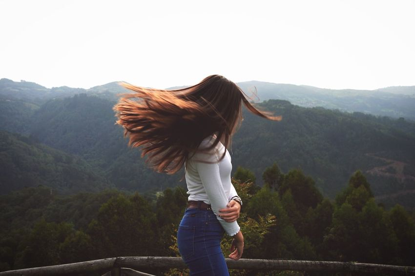 Mountain Beauty In Nature Nature Remote Long Hair