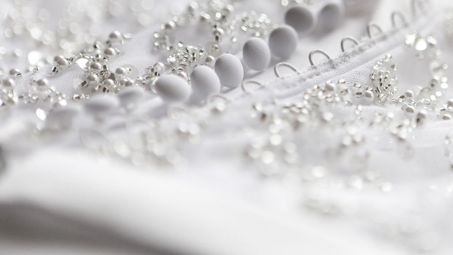 Close up of white fabric