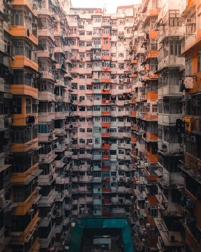 Aerial image of the montane mansion / yik fat building in hong kong