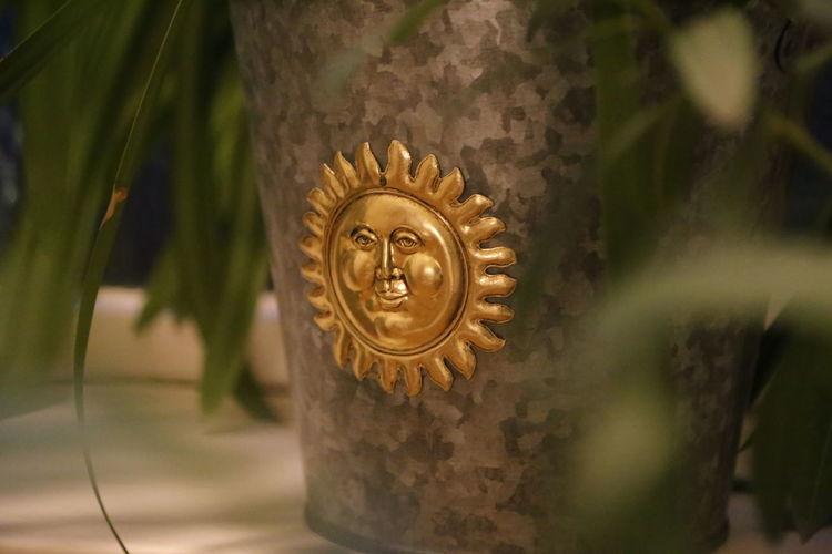 Close-up Decoration Indoors  Metal Art Metal Pot No People Plants Sun Shine Vase
