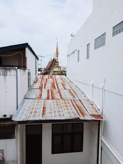 Architecture No People Travel Destinations Outdoors Day Sky Building Exterior Temple Stupa Thailand Golden Rust Zinc