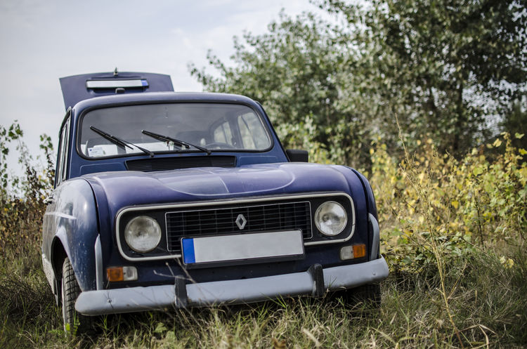 Renault 4 Antique Car Classic Classic Car Classic Car Photography Collector's Car Old-fashioned Outdoors Renault 4 Retro Styled EyeEmNewHere