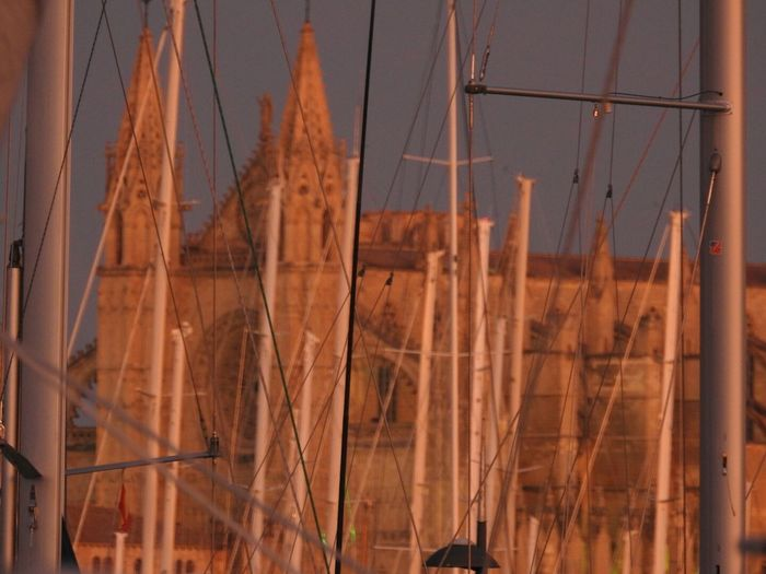 Architecture Cathedral Close-up Illuminated La Seu Mallorca Nature Night No People Outdoors Sky Sunset