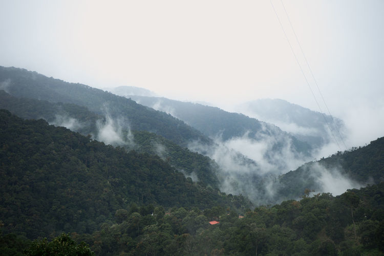 Costa Rica Beauty In Nature Fog Landscape Mist Mountain Nature No People Outdoors