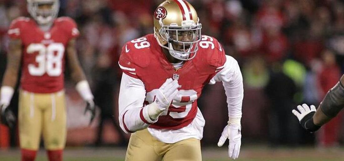 Congratulations to Aldon Smith for being named the NFL 101 NFC Defensive Player of the Year