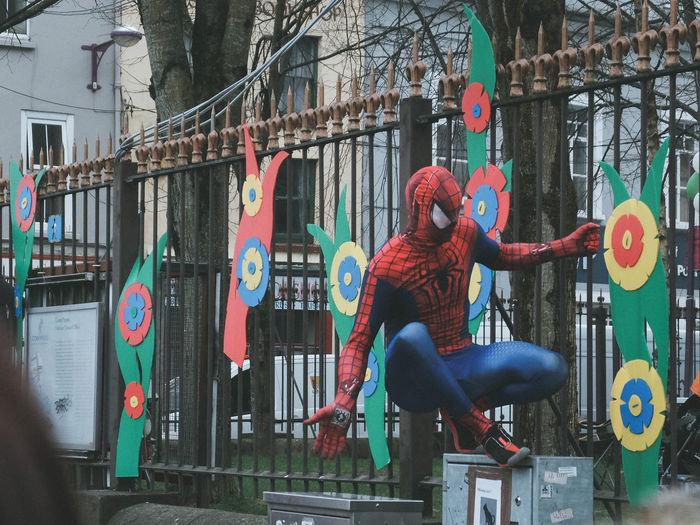 Spider-man Comics Marvel Marvelcomics One Person Outdoors Spiderman Spidey