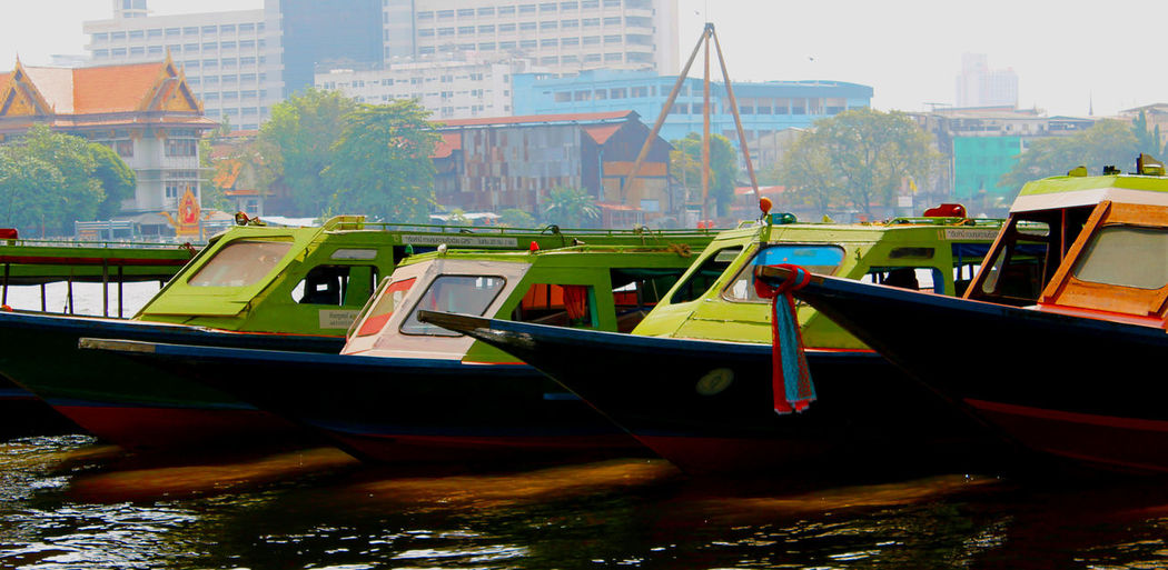 Abstract Abstract Boats Architecture Boat Building Built Structure City City Life Day Mode Of Transport Nature Outdoors Saturation Sky Thailand Travel Destinations