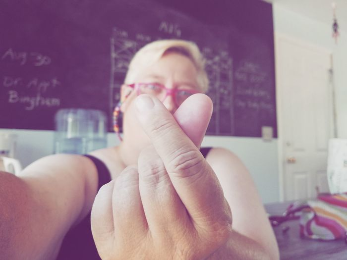 Heart Shape Heart Love Woman Lesbian Lgbt Self Portrait Portrait Human Hand Human Finger Close-up Finger Hand Forming I Love You Valentine's Day - Holiday