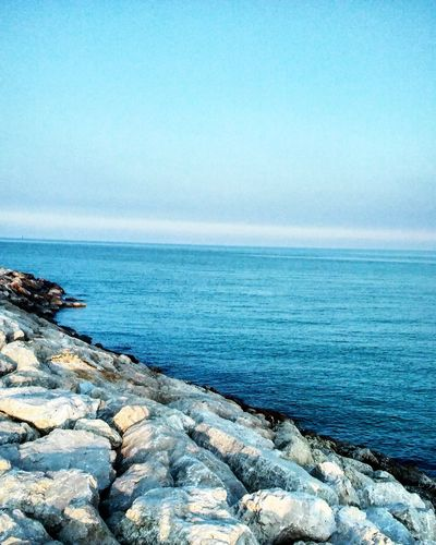 Sea Horizon Over Water Blue Nature Scenics Tranquility Tranquil Scene Beauty In Nature Water Sky Day Beach No People Clear Sky Rock - Object Outdoors Scogli Mare Blue Color Blue Wave Wave Scogliera Scoglio