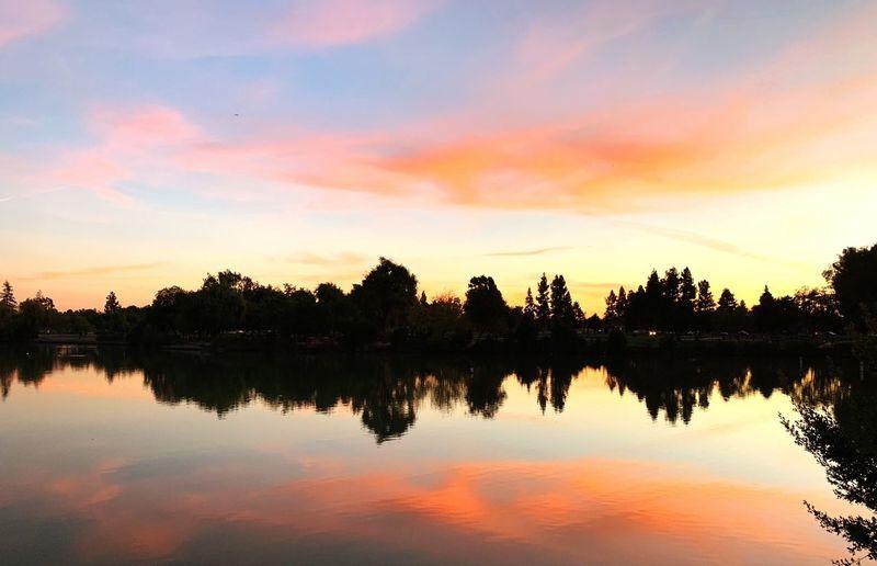 Twilight Twilight Fremont Lake Elizabeth Lensball Sunset Reflection Water Sky Lake Tranquility Orange Color