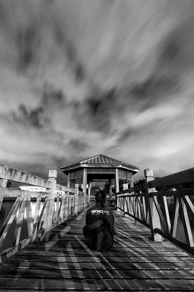 Contemplation ... Streetphotography EyeEm Best Shots Landscape_Collection Brunei Long Exposure Architecture Black & White Nightscape Sky_collection
