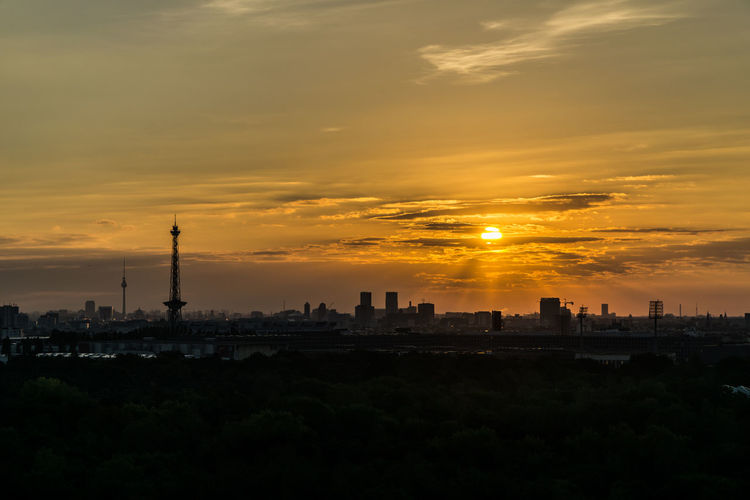 Sunrise in Berlin Berlin Funkturm Morning Architecture City Cityscape Cloud - Sky Day Germany No People Silhouette Sky Sunrise Sunset Sunshine Travel Destinations