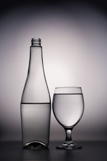 Fresh Water Minimalist Alcohol Bottle Close-up Day Drink Drinking Glass Flash Photography Food And Drink Freshness Glass Indoor Indoors  Indoors  Light And Shadow No People Shadow Studio Shot Table Water