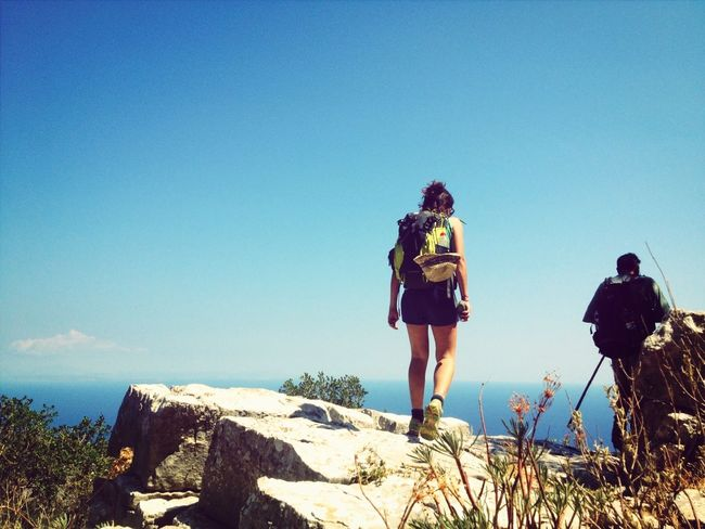 trekking with friends at the horizon Trekking Climbing Great Views Enjoying Life
