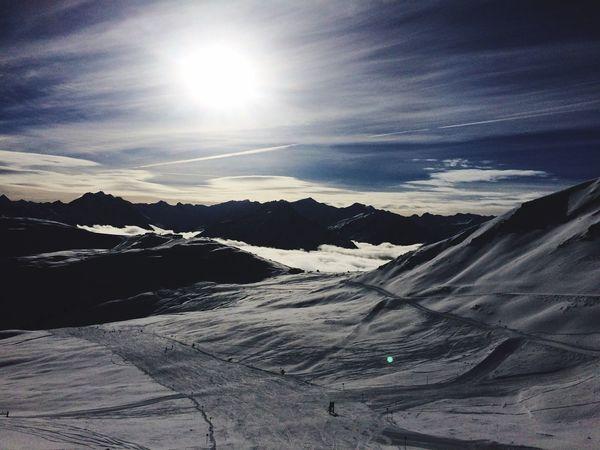 Skiing OnTopOfTheMountain Winter Weareskiing