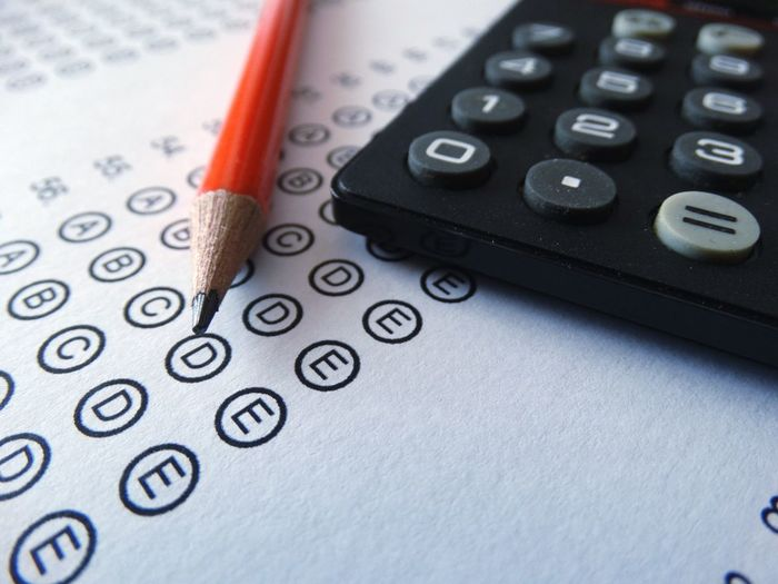 Pencil and calculator on exam paper. Number Pencil Mathematics Calculator Education Indoors  No People Paper Close-up Day Exam University College School Test Exams Tests Questions Exam Paper Teach