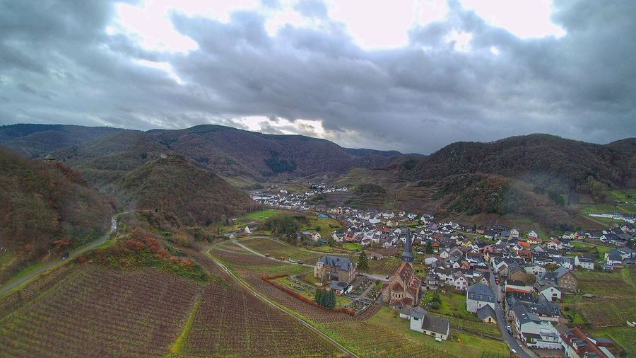 Germany Drone  Aerial View Aerial Photography Aerial Shot Dronephotography Cloud - Sky From Above  Winter Forest Travel Destinations Rain Mountain Ahrtal Rainy Days Vine Wine Ahr Dark Clouds Village Small Town Stories Mountain Travel Roadtrip