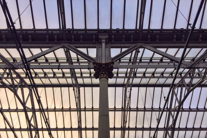 Waverley Lookingup Roof Train Station Architecture Architecture_collection Structure Pattern Pieces Pattern Lines Dusk Sky Colour Travel Traveling Scotland