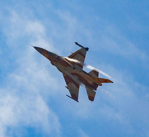 Air Vehicle Airplane Aviation Blue Blue Sky Day F-16 Fighter Plane Fighting Falcon Flight Flying General Dynamics IAF Israeli Air Force Military Airplane Sky