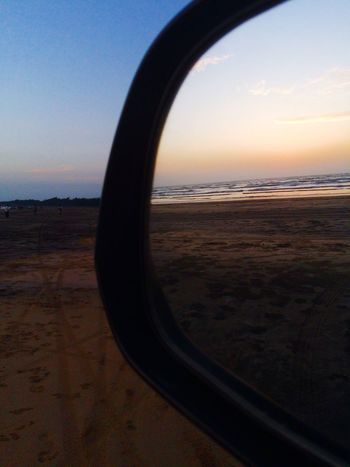 Clicked with iphone 5s Naturelovers Nature Nature Photography Nature_collection IPhoneography IPhone Photography Photography Beach Clouds And Sky Close-up Mirror Carmirror Tricky Pic Sand Sea Sunset Ocean India Seaside Beachphotography Filter