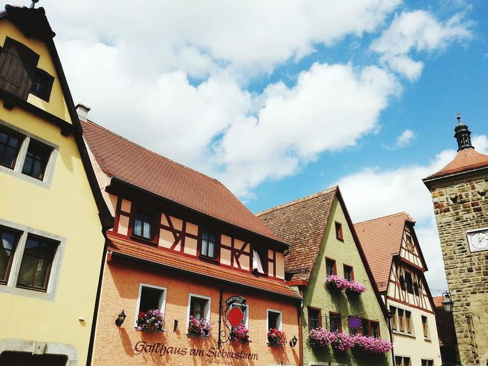 Rothenburg Germany Europe Cityscape Sunny Day