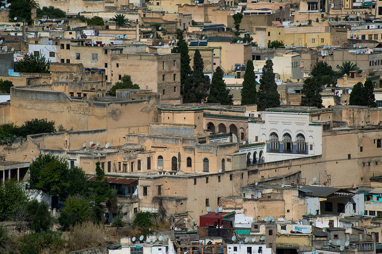 Panorama of the city of fez morocco