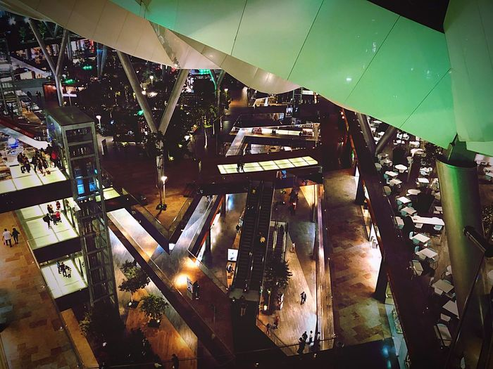 Night Mall Indoors  Illuminated No People Night Built Structure Architecture Glass - Material Decoration Window
