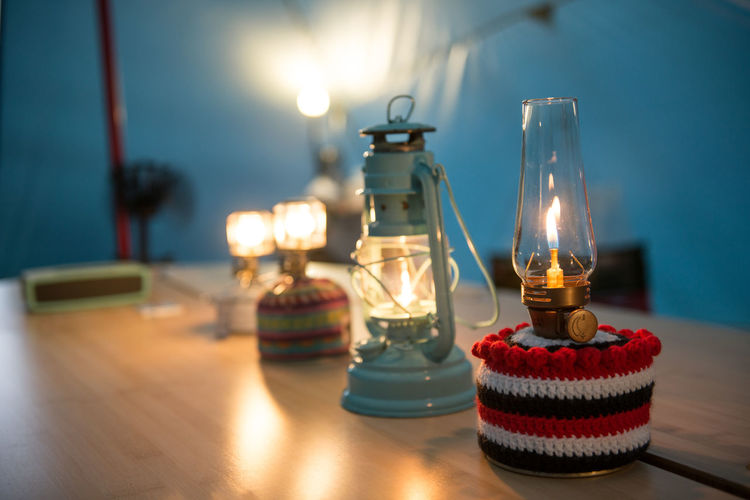 Camping Lifestyles Light And Shadow Light Effect Oil Lamp Relaxing Tea Light