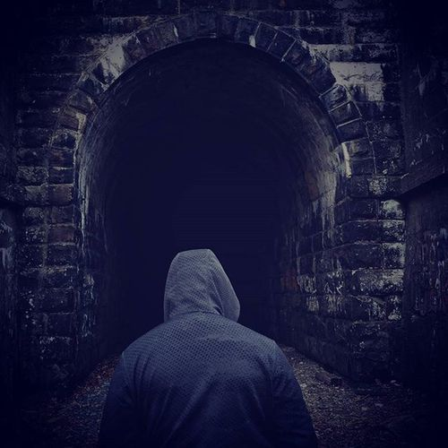 Into the shadows Photo Credits: Stohon . . . . . . Centralpascenery Naturalpa Naturalpennsylvania Scenicpa Railroad Tunnel Adventure Nature Nike Shadows Darkness GetOutThere Outdoors