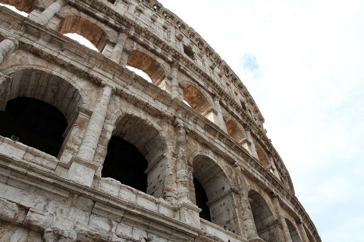 Amphitheater Ancient Ancient Civilization Ancient History Arch Archaeology Architectural Column Architecture Arts Culture And Entertainment Building Exterior Built Structure Colosseum Day History Low Angle View Nature No People Old Ruin Outdoors Ruined Sky The Past Tourism Travel Travel Destinations