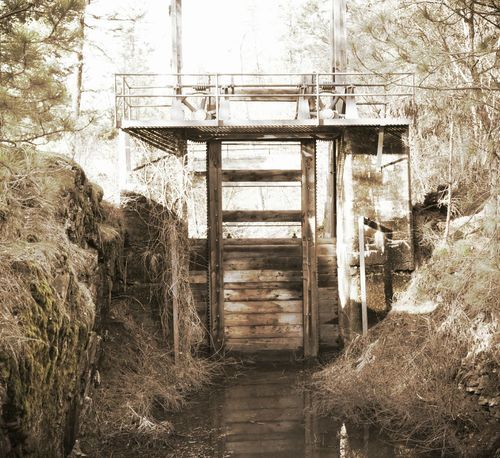 Old Construction Spillway Dam Springtime