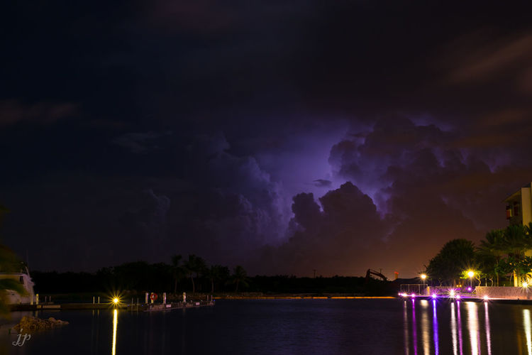 Lightning Storm Clouds And Sky Landscape Long Exposure