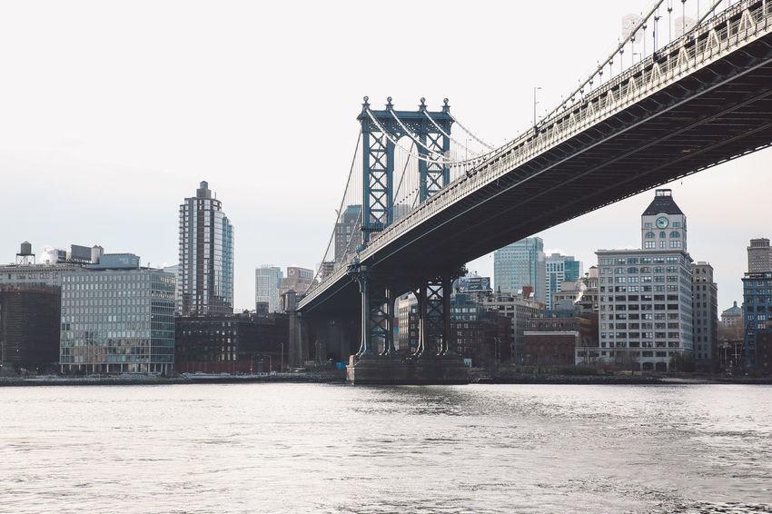 Architecture Bridge - Man Made Structure City Cityscape Industrial Manhattan Bridge Morning New York New York City Sunrise