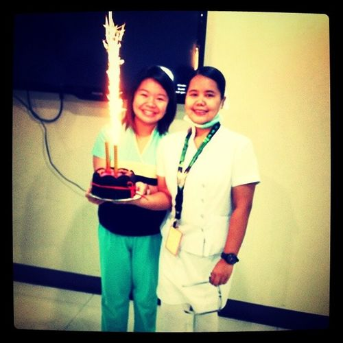 Thank you sa aking favorite cake+ lusis na candle :))